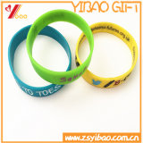 Изготовленный на заказ Wristband силикона логоса печатание для подарков промотирования (YB-SW-13)