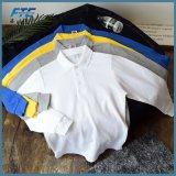 Chemise de polo pour chemise de coton d'hommes de polo de créateur des hommes la longue