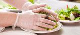 Gants clairs libres d'examen médical de vinyle de poudre manufacturée de catégorie comestible