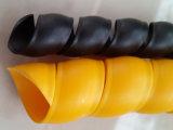 Luva de borracha em espiral de PP com tamanhos diferentes