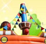 2 en 1Pulpo personalizada saltando de tema barco con tobogán y Bouncer