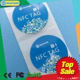13.56MHz Ntag 213 RFID etiqueta adhesiva de papel adhesivo para arreglo de prendas de vestir