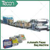 Automatisches energiesparendes Flexo Drucken-Ventil-Papierbeutel, der Maschine herstellt