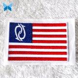 Het Flard van het Merk van de douane borduurde de Kleine Zelfklevende Flarden van de Flarden van de Vlag voor Kleding