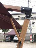 New Model Outdoor Garden Parasol Hotel Patio Umbrella with Wooden Finish Pole 2.5*2.5meters