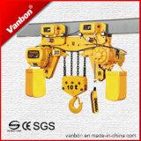 Bas Headroon type grue à chaînes électrique de Vanbon 10t