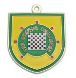 Médaille courante personnalisée en métal de sport d'en cuivre d'argent d'or de sport d'émail