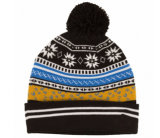2017 OEM Design Great Fashion Grey Winter Warm POM POM Manchette Bonnet en mouton