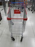 Le supermarché de chariot à achats transporte en charrette le chariot européen à épicerie