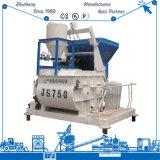 Máquina super do misturador concreto do Gêmeo-Eixo da qualidade 750L da eficiência elevada com um funil do elevador