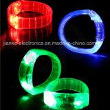 Superpopuläre leuchten LEDWristbands mit Firmenzeichen-Drucken (4011)