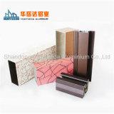 Perfil de aluminio de madera Windows y perfiles de las puertas