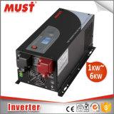 Onda de seno pura do LCD carregador do inversor de uma potência de 3000 watts