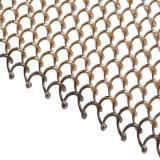 Maillon de chaîne d'aluminium métalliques décoratifs pour la vente de rideau