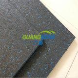 En el interior de caucho reciclado Wearing-Resistant azulejos, baldosas de goma, el gimnasio del suelo,