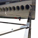 aço inoxidável Non-Pressurized Géiser Solar tubo de vácuo de aquecedor solar de água