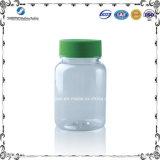 bottiglia di plastica trasparente di alta qualità 80ml con il coperchio a vite verde