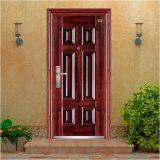 Porta de aço com puxadores e fechaduras de alta qualidade, porta de entrada, a porta de segurança em aço