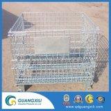 Entrepôt de stockage empilables de pliage Wire Mesh conteneur en acier