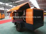 Compressor de ar de alta pressão do parafuso do motor 194kw Diesel da compressão removível do único estágio para a pedreira da mineração
