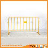 Evento de color amarillo de la barrera de control de masas para la Seguridad Vial