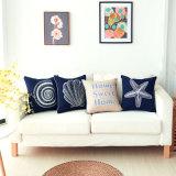 Cubierta de las almohadillas de tiro de la decoración del hogar del bordado de la lona del poliester para el sofá