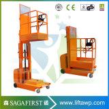 plataforma de funcionamento vertical de Orderpickers da plataforma do elevador da soldadura do elevador hidráulico de 4.5m