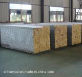 Изолированная пожаробезопасная стальная панель стены доски сандвича шерстей утеса