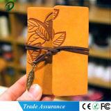 Modelo de la hoja del cuero DIY de cartón de la foto de álbum de recortes