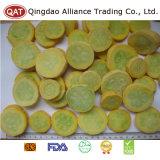 Haut de la qualité des tranches de courgettes jaunes gelé