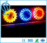 車道のトラフィックの警報灯の多彩な信号の標識燈