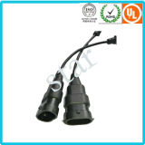 H13 Waterproof Molding Light Connector Wire Harness with PVC Sleeve Tube