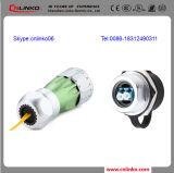 Garantie de 3 ans Connecteurs en fibre optique imperméables en métal IP67