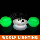 LEDの家具の庭のためのガラスコーヒーテーブル
