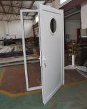 Porte-battante en aluminium à rupture thermique de bonne qualité avec panneau en aluminium et fenêtre Circle K06026