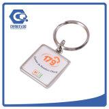 Corrente chave do presente da promoção do OEM do metal com logotipo do negócio