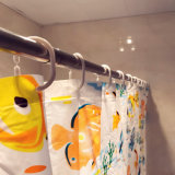 Los pescados coloridos PEVA impermeabilizan la cortina de ducha para el cuarto de baño