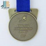 La medaglia di sport di judo del metallo dello smalto della pressofusione con il nastro di sublimazione