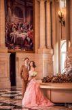 Meraid 분홍색 창틀은 구슬로 장식했다 결혼식 Eveing 복장 신부 드레스 (TJBLCT010)를