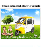 Три колесных электромобилях, закрытыми дверями Tricycle1.0 с электроприводом