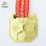 Medaglia in lega di zinco di vendita superiore di atletismo dello smalto del bronzo dell'oggetto d'antiquariato del pezzo fuso
