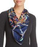 Les femmes de qualité ont personnalisé l'écharpe en soie de grand dos de série de femmes