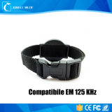Hochwertiges 13.56MHz RFID Nylonarmband des freies Beispielmit ABS Vorwahlknopf-Platte