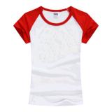 보통 대조 색깔 단정치 못한 여자 면 t-셔츠