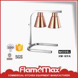 Lámpara 2-Lamp (HW-819B) del calientaplatos de la pista del doble inoxidable del acero