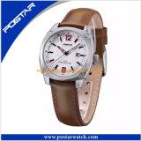 Relógios automáticos genuínos dos homens do relógio impermeável da cinta de couro