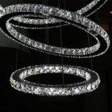 Hotel-dekorativer Luxus K9 löscht runde hängende Kristalllampe