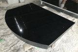 Comptoir de granit noir cheminée en granit Hearth et de panneau arrière