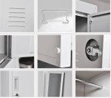 Uitstekende Opslag 6 van het Metaal de Kast van de Slaapkamer van de Deur