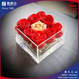 높은 투명한 아크릴 꽃 상자 또는 도매 명확한 아크릴 꽃 상자